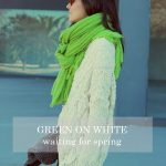 GREEN ON WHITE