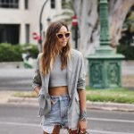 CROP TOP + BLAZER + DENIM